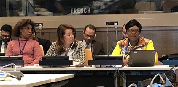 وزيرة التضامن خلال أعمال الدورة 54 للتنمية الاجتماعية