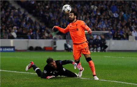 محمد صلاح لحظة إحراز الهدف