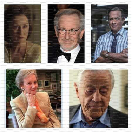 بن برادلى،كاثرن جرهام، سبيلبرج،توم هانكس، ميريل استريب