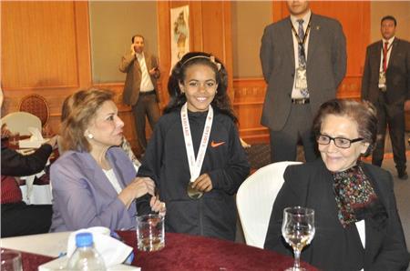 السفيرة ميرفت التلاوي وجميلة بوحريد