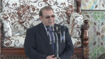 حسن راتب خلال مؤتمر دعم السيسي في الانتخابات الرئاسية بالأقصر