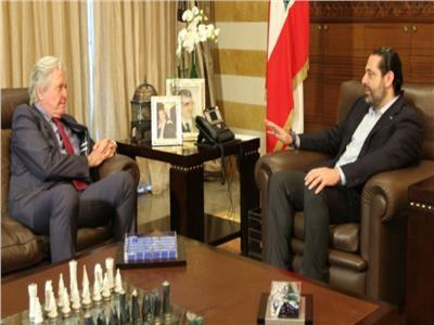 حسين فهمي يلتقي سعد الحريري
