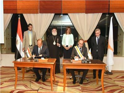 توقيع اتفاقية التوأمة بين الإسكندرية وبافوس