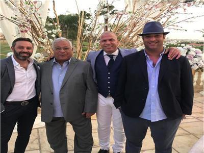 ميدو ووائل جمعه وحسام وصفي «والد ميدو» وحازم إمام