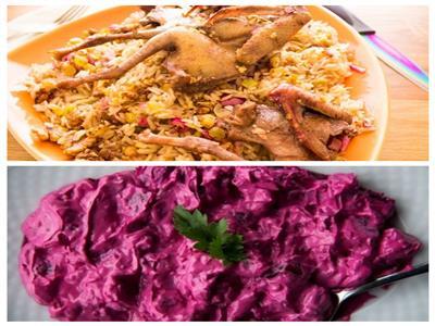 فطارك عندنا| سمان مشوي مع الأرز بالزبيب وسلطة بنجر بالزبادي