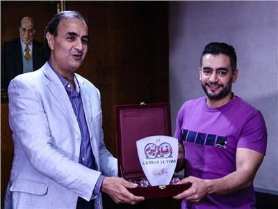 تكريم النجم هاني سلامة من الأستاذ محمد البهنساوي