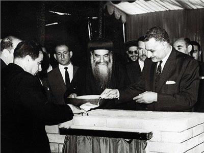 الرئيس جمال عبد الناصر والبابا كيرلس