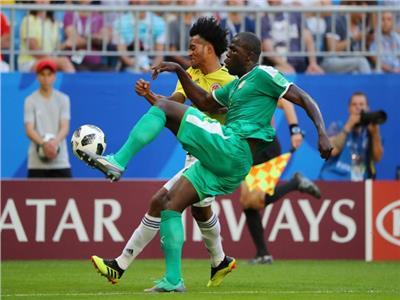 صورة من مباراة السنغال وكولومبيا