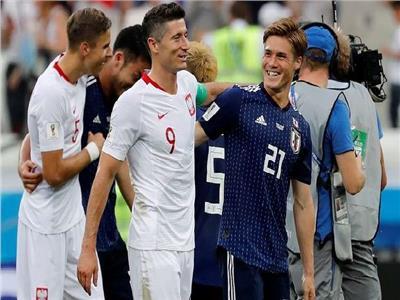 صورة من مباراة اليابان وبولندا