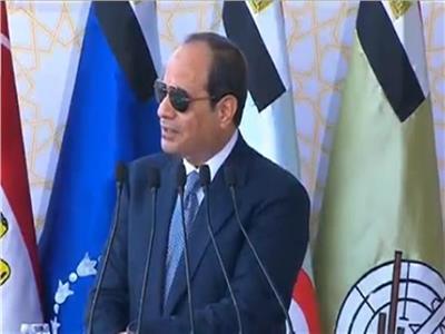 الرئيس عبد الفتاح السيسي خلال حفل التخرج