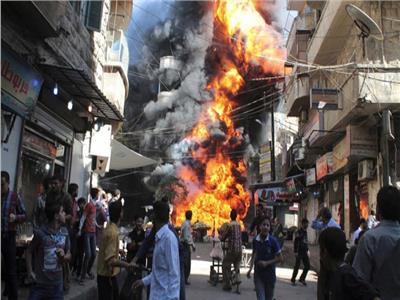 انفجار مستودع أسلحة بإدلب السورية
