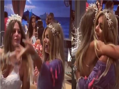 صورة من مقطع الفيديو لحفل زفاف منة حسين فهمي