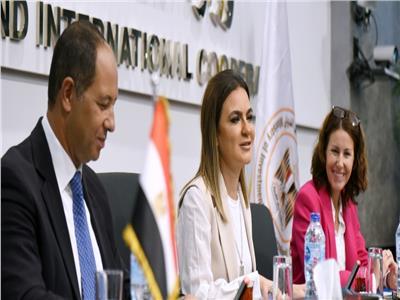 وزيرة الاستثمار خلال ورشة عمل حول تحسين بيئة الاستثمار