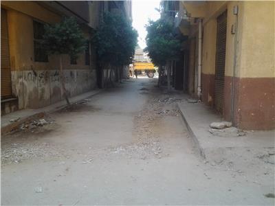 بداية أعمال تأهيل ورصف شوارع مدينة طنطا