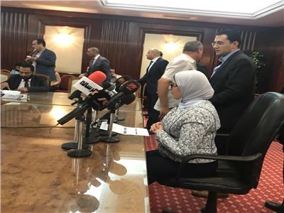 وزيرة الصحة د.هالة زايد خلال المؤتمر