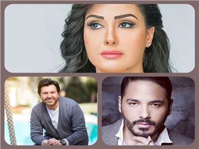 هاني شاكر وغادة عبد الرازق ورامي عياش