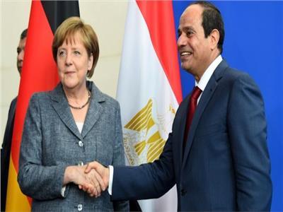 الرئيس عبدالفتاح السيسي والمستشارة الألمانية انجيلا ميركل