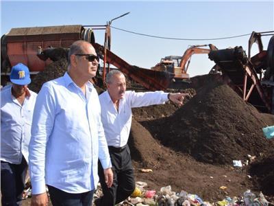 محافظ الغربية يتفقد مصع تدوير القمامة
