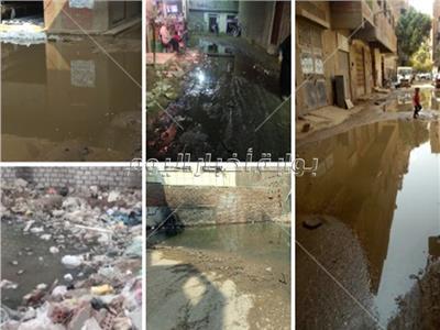 غرق الشوارع بالمياه الملوثة والناقلة للأمراض