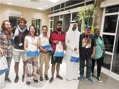 الوفود الأفريقية والعربية المشاركون فى منتدى شباب العالم