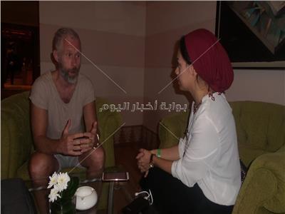 باتريك فينسنت خلال حواره مع محررة بوابة أخبار اليوم