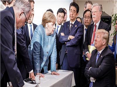 دونالد ترامب وزعماء أوروبيون