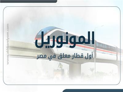 «المونوريل» أول قطار معلق في مصر