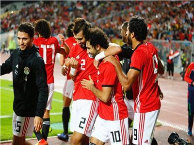 فرحة نجوم منتخب مصر