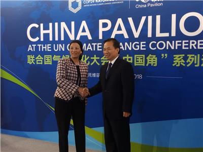وزيرة البيئة ونظيرها الصيني يبحثان مواجهة التغيرات المناخية