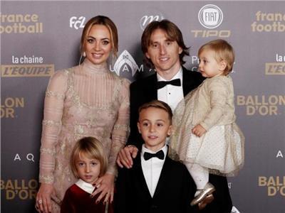 لوكا مودريتشبرفقة عائلته