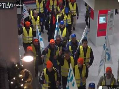 إضراب عمال السكك الحديدية بألمانيا