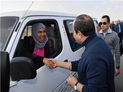 الرئيس عبد الفتاح السيسي والسيدة «نحمده»