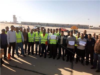 العاملون بمطار الأقصر