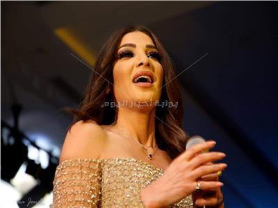 دينا حايك خلال الحفل