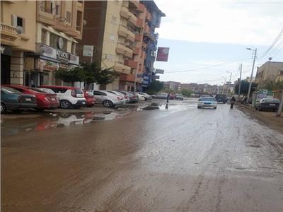 سقوط امطار علي دمياط