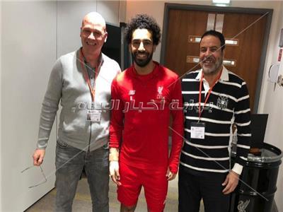 إيريك فان دير مير مع محمد صلاح في نادي ليفربول
