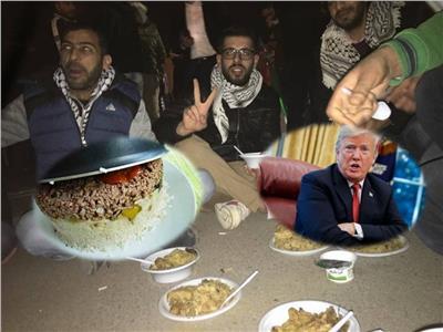 صورة من اعنصام المقلوبة ضد ترامب