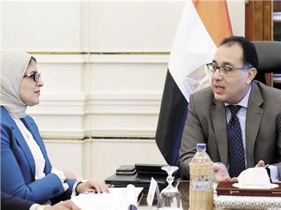 وزيرة الصحة د.هالة زايد ، د.مصطفى مدبولي رئيس الوزراء