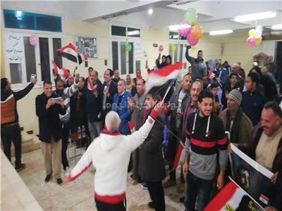 فرحه في قرية نجريج مسقط راس مو صلاح