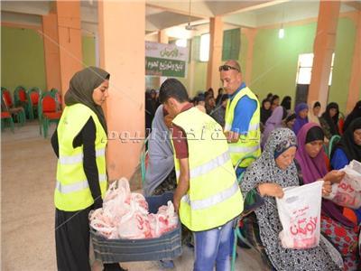 توزيع اللحوم بقرى سوهاج