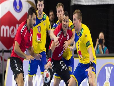 جانب من مباراة مصر والسويد
