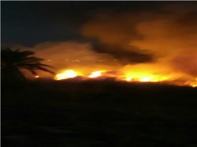 حريق في الهيش بجوار حمام موسي
