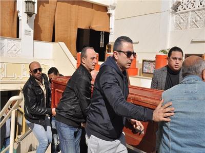 أحمد سعيد عبد الغني في جنازة والده - صورة أرشيفية