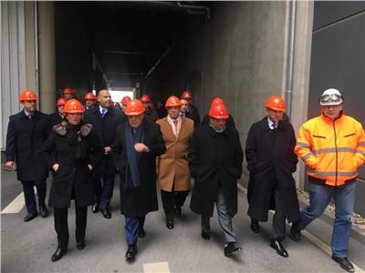 وزير الإنتاج الحربي خلال زيارتة مقر شركة BSR الالمانية لادارة المخلفات بمدينة برلين