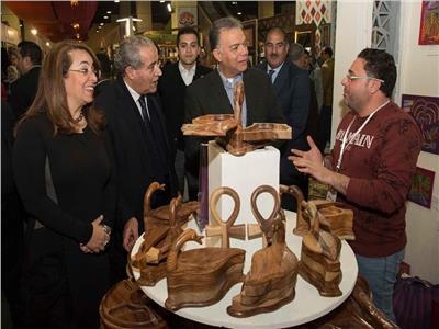 وزيرا التموين والنقل في ضيافة معرض «ديارنا»