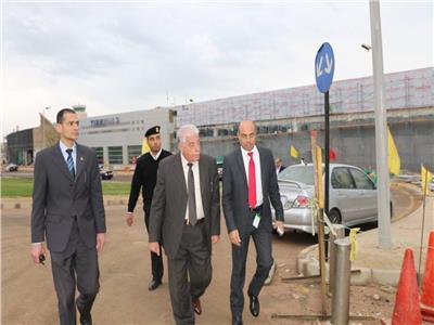 """""""فودة """" يتفقد أعمال تطوير مطار شرم الشيخ الدولي"""
