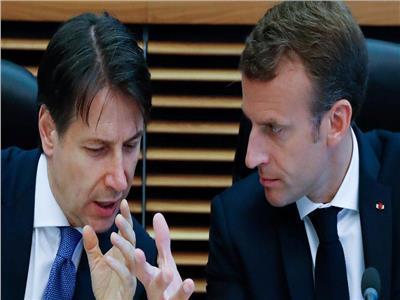 الرئيس الفرنسي ورئيس وزراء إيطاليا