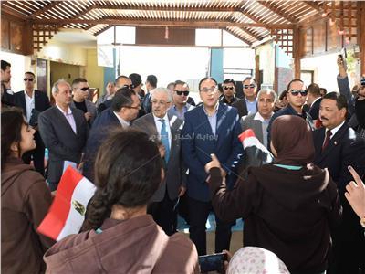 صورة من زيارة رئيس الوزراء لمحافظة أسوان