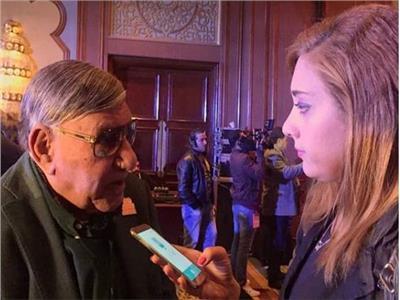 الإعلامي مفيد فوزي والصحفية وجيدة عبداللطيف