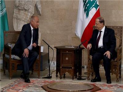 الرئيس اللبنانى يستقبل أبو الغيط